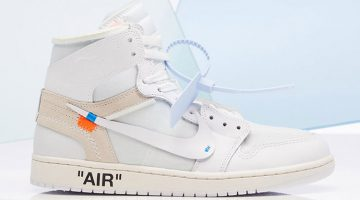 Air Jordan 1 x Off White en blanco