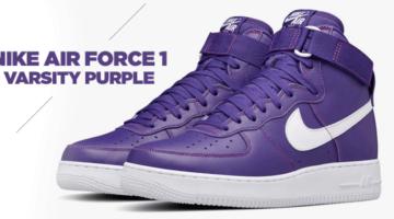 "Nike lanza la Air Force 1 ""Varsity Purple"" de 1993"