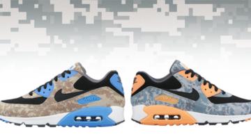 Nike lanza dos modelos Camo Prints Air Max 90