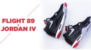 Nike Flight 89 Muy cerca de las Jordan IV