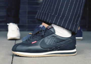 Nike Cortez x Mister Cartoon on feet