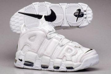 "Nike Air More Uptempo ""White / White - Navy"""