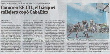 Nota Clarín - Basket callejero Play to Win