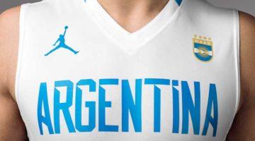 Remera Selección Argentina de Basket Jordan