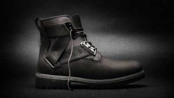 Timberland Volume VIII, an all-black 6-inch Premium Strap Boot.